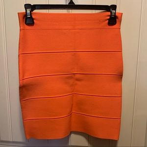 Orange BCBG bodycon Skirt